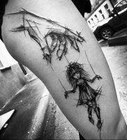 фото тату марионетка с нитками от 26.04.2018 №011 — tattoo puppet with — tattoo-photo.ru