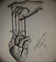 фото тату марионетка с нитками от 26.04.2018 №013 — tattoo puppet with — tattoo-photo.ru