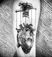 фото тату марионетка с нитками от 26.04.2018 №017 — tattoo puppet with — tattoo-photo.ru