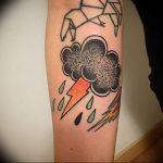 фото тату молния от 26.04.2018 №025 - lightning tattoo - tattoo-photo.ru