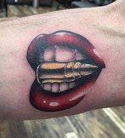 фото тату пуля от 06.04.2018 №003 — bullet tattoo — tattoo-photo.ru