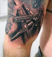 фото тату пуля от 06.04.2018 №009 — bullet tattoo — tattoo-photo.ru