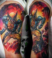 фото тату росомаха от 27.04.2018 №022 — Wolverine tattoo — tattoo-photo.ru