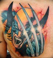 фото тату росомаха от 27.04.2018 №025 — Wolverine tattoo — tattoo-photo.ru