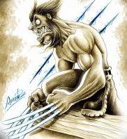 фото тату росомаха от 27.04.2018 №029 — Wolverine tattoo — tattoo-photo.ru