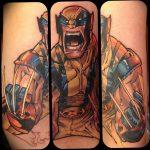 фото тату росомаха от 27.04.2018 №056 - Wolverine tattoo - tattoo-photo.ru
