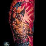 фото тату росомаха от 27.04.2018 №064 - Wolverine tattoo - tattoo-photo.ru