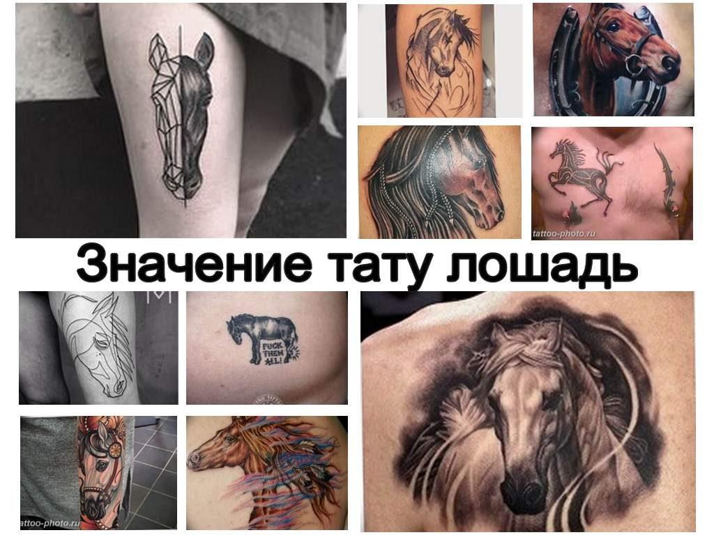 Значение тату лошадь - информация и фото примеры рисунка татуировки