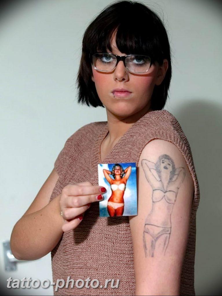фото неудачной тату (партак) 23.12.2018 №126 - photo unsuccessful tattoo - tattoo-photo.ru
