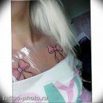 фото тату бантик 24.12.2018 №026 - photo tattoo bow - tattoo-photo.ru