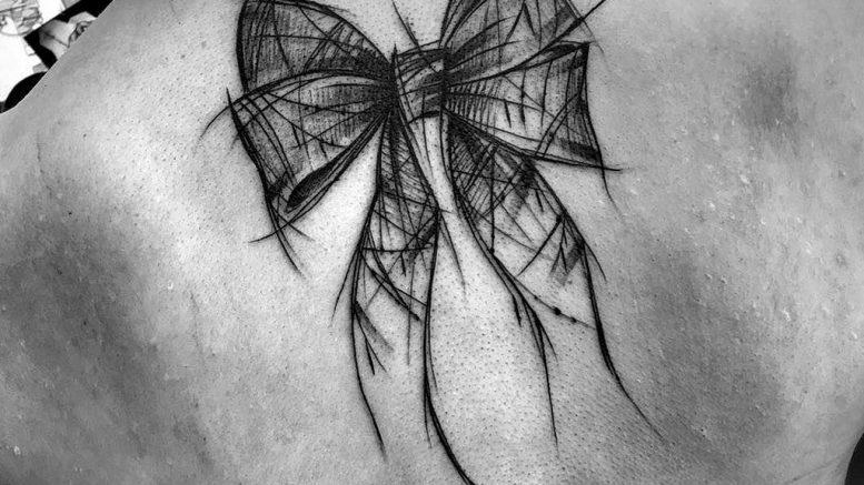 фото тату бантик 24.12.2018 №580 - photo tattoo bow - tattoo-photo.ru