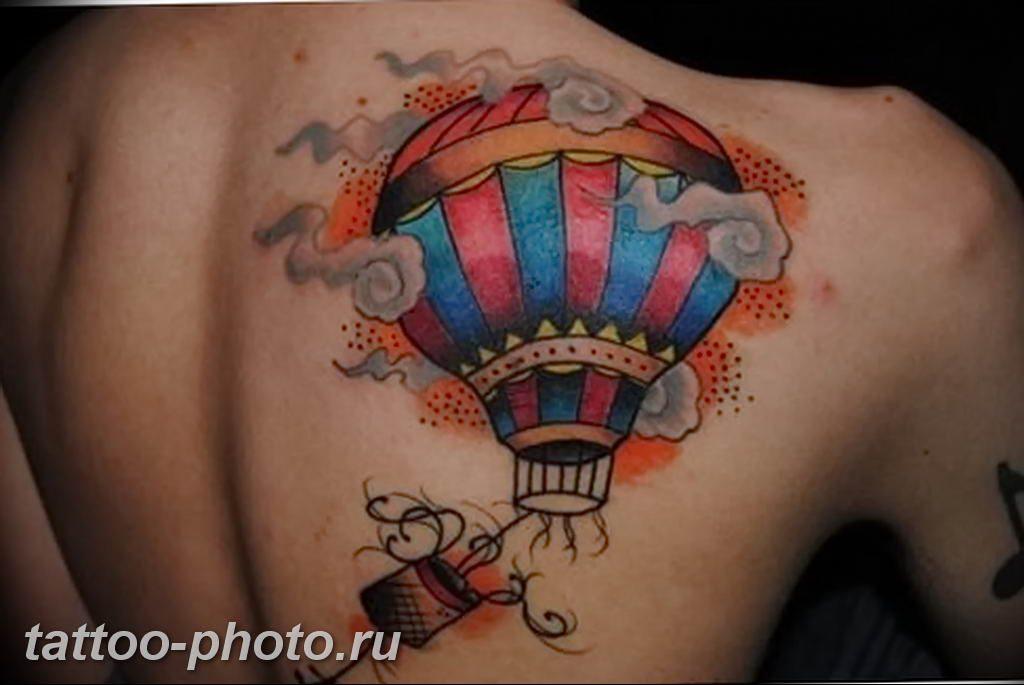 фото тату воздушный шар 22.12.2018 №045 - photo tattoo balloon - tattoo-photo.ru