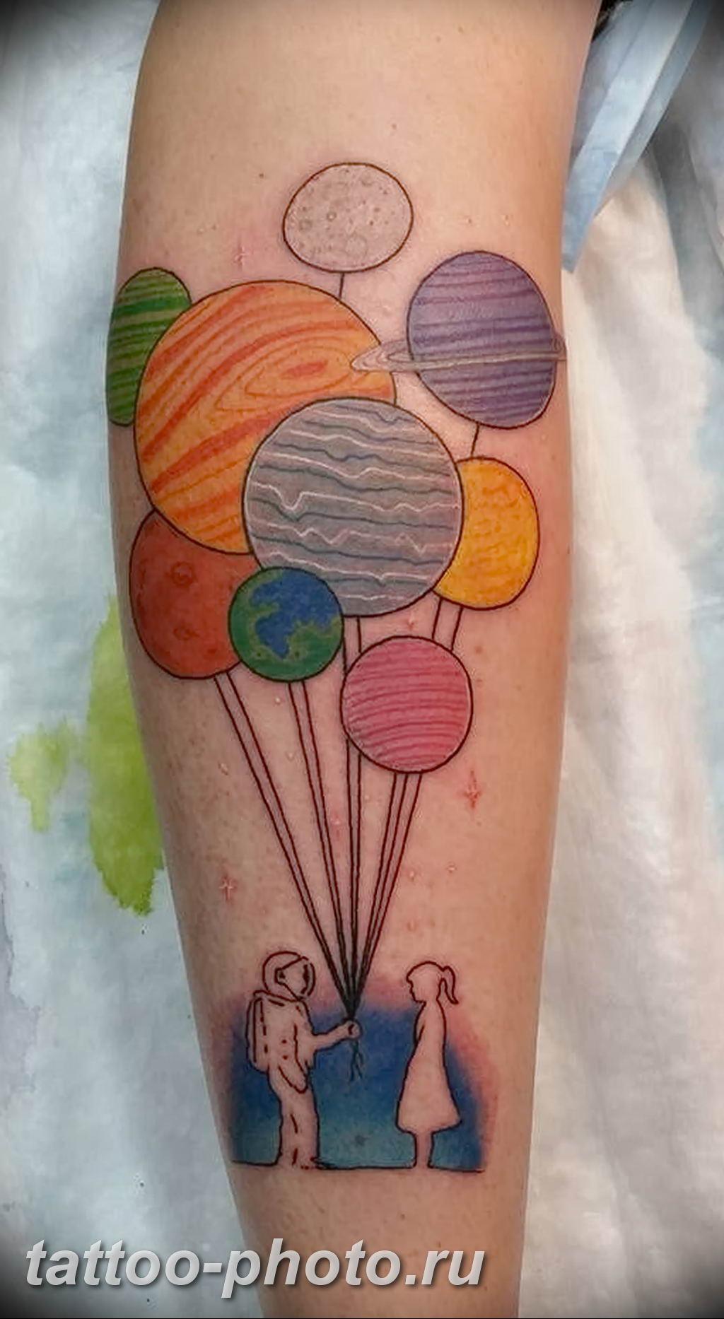 конце картинки тату с воздушными шариками снимках детали