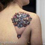 фото тату воздушный шар 22.12.2018 №468 - photo tattoo balloon - tattoo-photo.ru