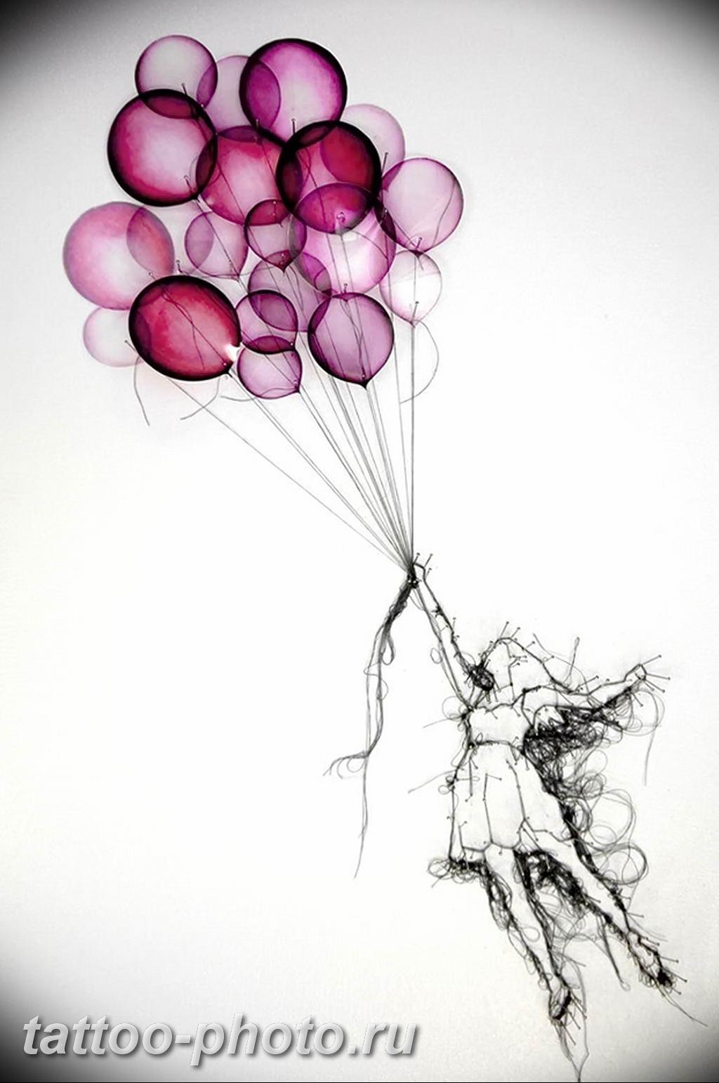 является картинки тату с воздушными шариками размера плюс