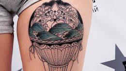 фото тату воздушный шар 22.12.2018 №546 - photo tattoo balloon - tattoo-photo.ru