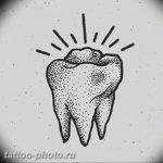 фото тату зуб 23.12.2018 №016 - photo tattoo tooth - tattoo-photo.ru
