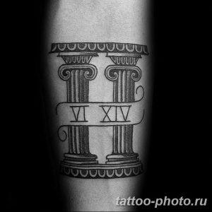 Фото рисунка Тату Близнецы 20.11.2018 №096 - photo tattoos gemini - tattoo-photo.ru