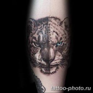 Фото рисунка Тату снежный барс 20.11.2018 №009 - Tattoo snow leopard - tattoo-photo.ru