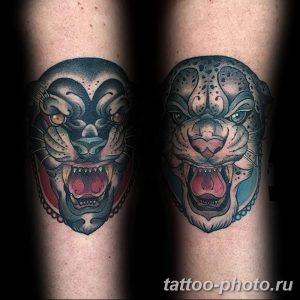 Фото рисунка Тату снежный барс 20.11.2018 №018 - Tattoo snow leopard - tattoo-photo.ru