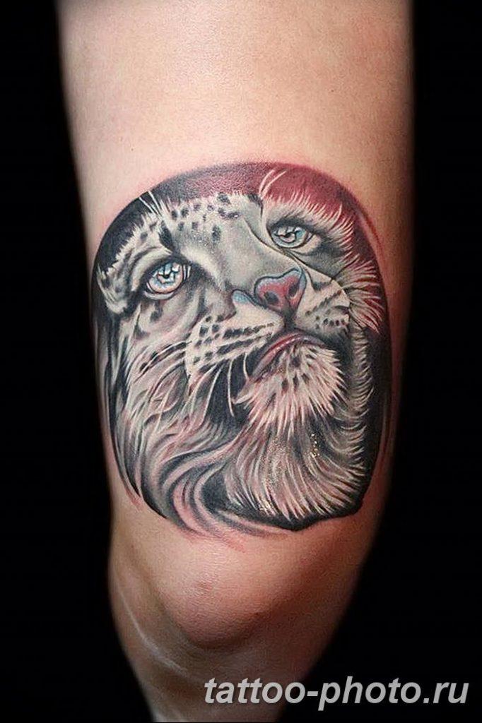 Фото рисунка Тату снежный барс 20.11.2018 №055 - Tattoo snow leopard - tattoo-photo.ru
