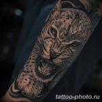 Фото рисунка Тату снежный барс 20.11.2018 №064 - Tattoo snow leopard - tattoo-photo.ru