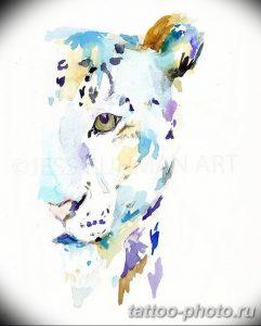 Фото рисунка Тату снежный барс 20.11.2018 №072 - Tattoo snow leopard - tattoo-photo.ru