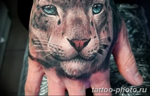 Фото рисунка Тату снежный барс 20.11.2018 №084 - Tattoo snow leopard - tattoo-photo.ru