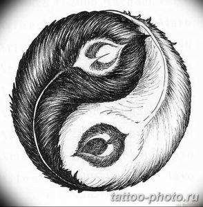 Фото рисунка тату Инь-Янь 08.11.2018 №012 - photo tattoo Yin-Yang - tattoo-photo.ru
