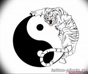 Фото рисунка тату Инь-Янь 08.11.2018 №066 - photo tattoo Yin-Yang - tattoo-photo.ru