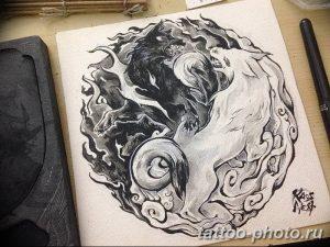 Фото рисунка тату Инь-Янь 08.11.2018 №075 - photo tattoo Yin-Yang - tattoo-photo.ru