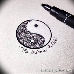 Фото рисунка тату Инь-Янь 08.11.2018 №092 - photo tattoo Yin-Yang - tattoo-photo.ru