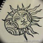 Фото рисунка тату Луна и Солнце 05.11.2018 №122 - tattoo Moon and Sun - tattoo-photo.ru