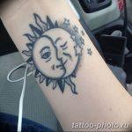 Фото рисунка тату Луна и Солнце 05.11.2018 №136 - tattoo Moon and Sun - tattoo-photo.ru