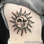 Фото рисунка тату Луна и Солнце 05.11.2018 №137 - tattoo Moon and Sun - tattoo-photo.ru