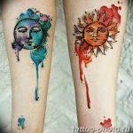 Фото рисунка тату Луна и Солнце 05.11.2018 №141 - tattoo Moon and Sun - tattoo-photo.ru