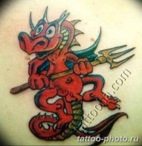 Фото рисунка тату Трезубец 07.11.2018 №159 - photo tattoo Trident - tattoo-photo.ru
