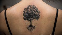 Фото рисунка тату дерево 07.11.2018 №501 - photo tattoo tree - tattoo-photo.ru