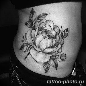 Фото рисунка тату камелия 24.11.2018 №001 - photo tattoo camellia - tattoo-photo.ru