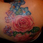 Фото рисунка тату камелия 24.11.2018 №010 - photo tattoo camellia - tattoo-photo.ru