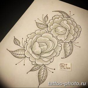 Фото рисунка тату камелия 24.11.2018 №011 - photo tattoo camellia - tattoo-photo.ru