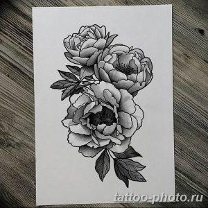 Фото рисунка тату камелия 24.11.2018 №016 - photo tattoo camellia - tattoo-photo.ru