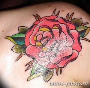 Фото рисунка тату камелия 24.11.2018 №026 - photo tattoo camellia - tattoo-photo.ru
