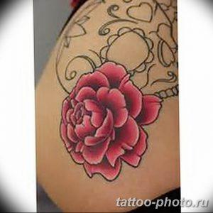 Фото рисунка тату камелия 24.11.2018 №027 - photo tattoo camellia - tattoo-photo.ru