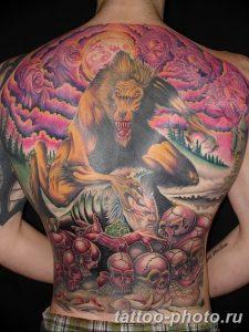 Фото рисунка тату оборотень 24.11.2018 №003 - photo tattoo werewolf - tattoo-photo.ru
