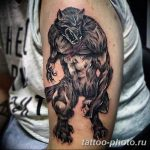 Фото рисунка тату оборотень 24.11.2018 №004 - photo tattoo werewolf - tattoo-photo.ru