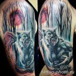 Фото рисунка тату оборотень 24.11.2018 №005 - photo tattoo werewolf - tattoo-photo.ru