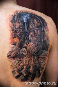 Фото рисунка тату оборотень 24.11.2018 №007 - photo tattoo werewolf - tattoo-photo.ru