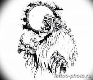 Фото рисунка тату оборотень 24.11.2018 №008 - photo tattoo werewolf - tattoo-photo.ru