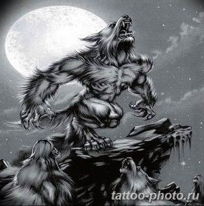 Фото рисунка тату оборотень 24.11.2018 №010 - photo tattoo werewolf - tattoo-photo.ru